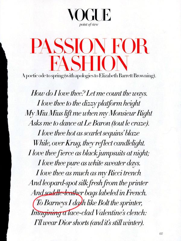 Passion for Fashion - Vogue