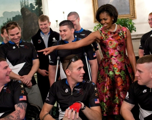Michelle Obama Wearing Barbara Tfank