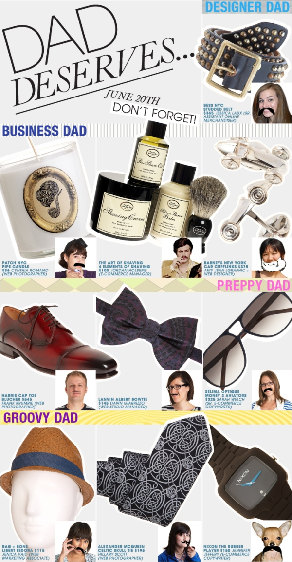 Barneys Web Team Staff Picks for Father's Day