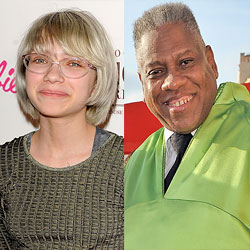André Leon Talley and Tavi
