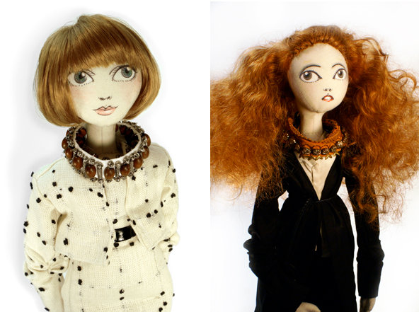 Anna Wintour and Grace Coddington Dolls by Andrew Yang