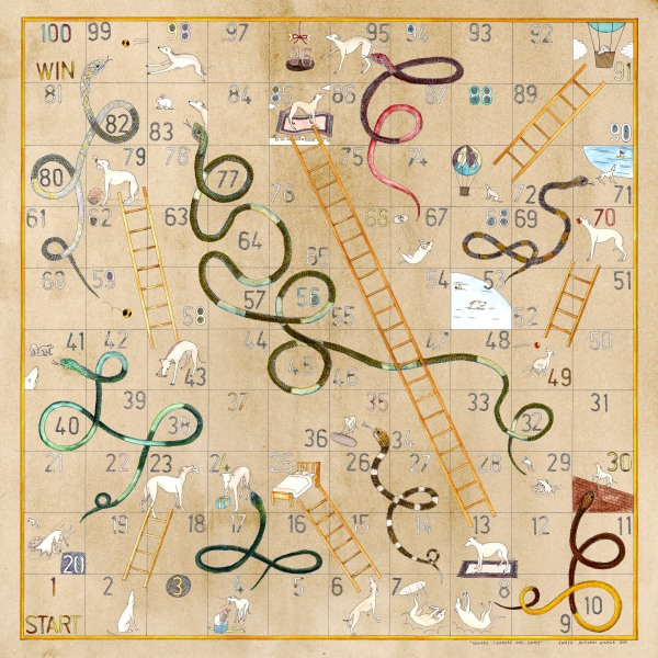 Swash Curiosity Snakes and Ladders Scarf