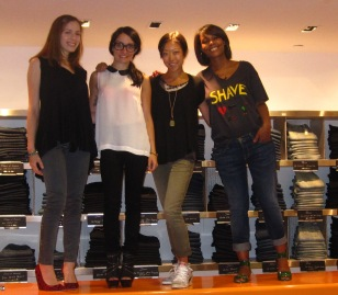Barneys CO-OP Girls Lara, Melissa, Tomoko, & Meisha