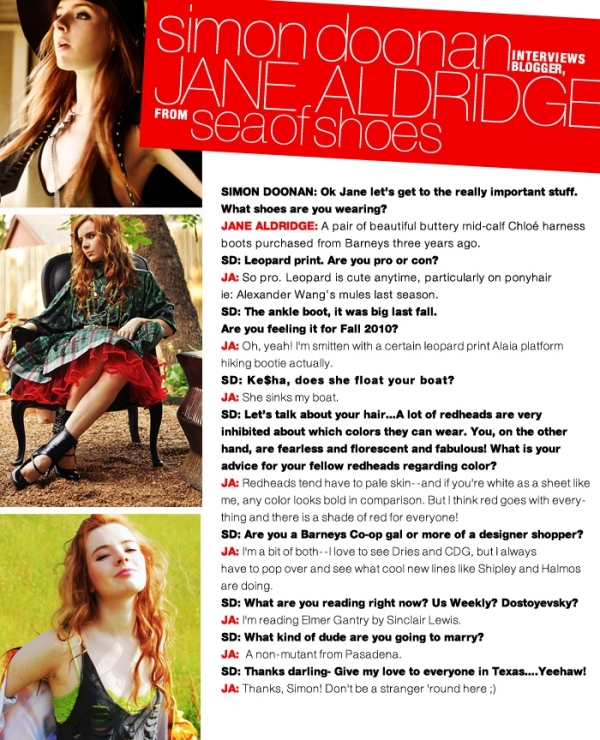 Jane Aldridge Q&A