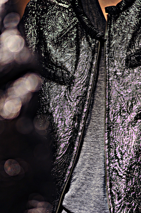 Isabel Marant quilted metallic jacket