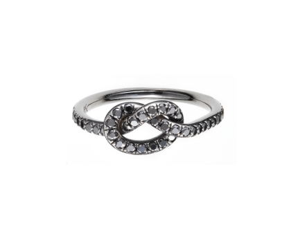 Finn Black Diamond Love Knot Ring