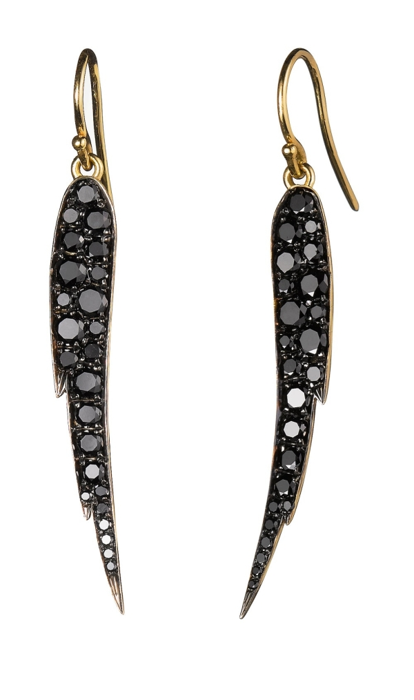 Finn Black Diamond Angel Wings Earrings